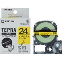 テプラPROテープ SCY24Y 黄に黒文字 24mm