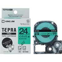 テプラPROテープ SCY24G 緑に黒文字 24mm
