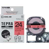 テプラPROテープ SCY24R 赤に黒文字 24mm