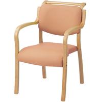 会議イス テンダー HG-F-N ピンク 木製