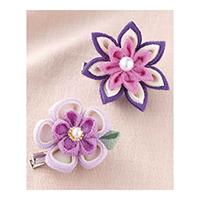 お花のブローチ 紫