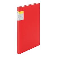 クリアーファイルカキコ40P 赤