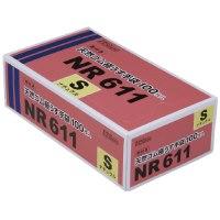 粉付き天然ゴム極うす手袋 NR611 100枚入 S