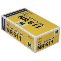 粉付き天然ゴム極うす手袋 NR611 100枚入 M