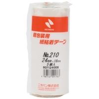 紙粘着テープ 210-24 白 24mm×18m 5巻