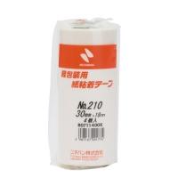 紙粘着テープ 210-30 白 30mm×18m 4巻