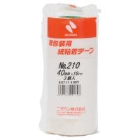 紙粘着テープ 210-40 白 40mm×18m 3巻
