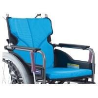 (非課税)自走型車いす 中高床 ライトブルー
