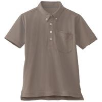 半袖BDポロシャツ ブラウン L
