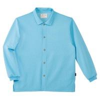 前開きシャツCR816 ブルーS
