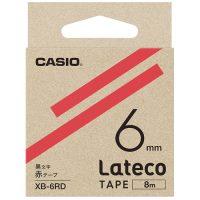 ラテコ専用テープXB-6RD 赤に黒文字