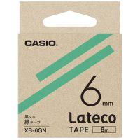 ラテコ専用テープXB-6GN 緑に黒文字