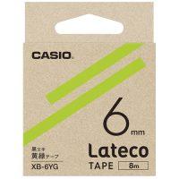 ラテコ専用テープXB-6YG黄緑に黒文字