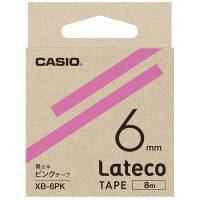 ラテコ専用テープXB-6PK ピンクに黒文字