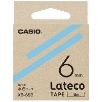 ラテコ専用テープXB-6SB水色に黒文字