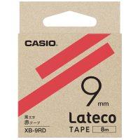 ラテコ専用テープXB-9RD 赤に黒文字