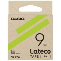 ラテコ専用テープXB-9YG黄緑に黒文字