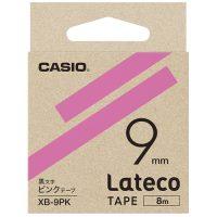ラテコ専用テープXB-9PK ピンクに黒文字