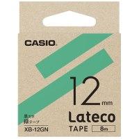 ラテコ専用テープXB-12GN緑に黒文字