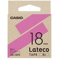 ラテコ専用テープXB-18PK ピンクに黒文字
