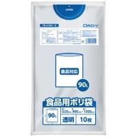 食品用ポリ袋 90L 透明 10枚