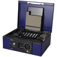 キャッシュボックス CB-8770-B ブルー A4