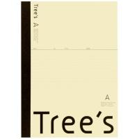 Trees A4 A罫 40枚 クリーム