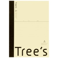 Trees A5 A罫 30枚 クリーム