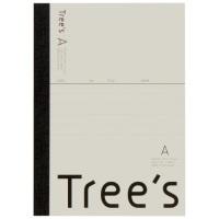 Trees A6 A罫 48枚 クリーム