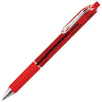 ノック式油性ボールペン10本 H048J-RD-10赤