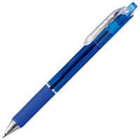 ノック式油性ボールペン10本 H048J-BL-10青