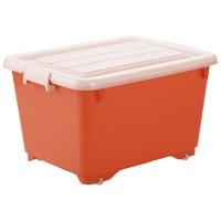 収納BOX フォーシービビッド50深 オレンジ