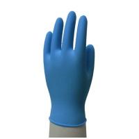 ニトリル手袋粉つき100枚 S ブルー