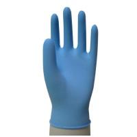 △ニトリル手袋粉つき100枚 M ブルー