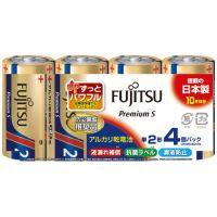 富士通アルカリ乾電池PremiumS 単2形 4本