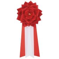 徽章リボン 大リボンバラ 赤 RK-BLR
