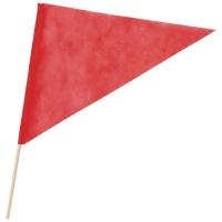 三角旗 不織布 赤