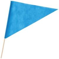 三角旗 不織布 青