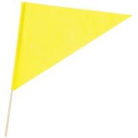 三角旗 不織布 黄