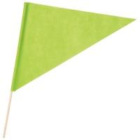 三角旗 不織布 黄緑