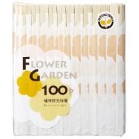 フラワーガーデン植林元禄箸100膳 袋入