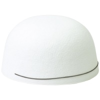 フェルト帽子 白