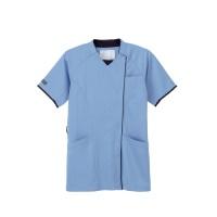ニットシャツJM3127 ブルーS
