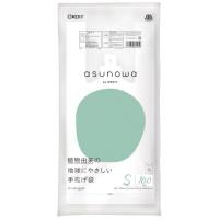 asunowaバイオマス25%手提袋S/30号乳白100P