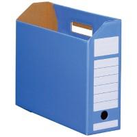 ボックスファイル ヨコ型青10冊 D044J-BL
