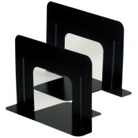 ブックエンド ワイド 1組(2枚) 黒 GP-621