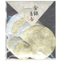 貼り絵 805014 金銀まる