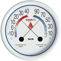 食中毒注意ゾーン付温湿度計 WH5488