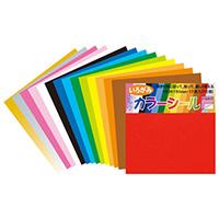 タックカラーシール色紙 15色17枚 ミ317