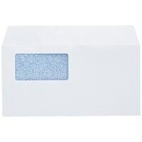 窓付封筒長3横長白ケント100枚糊付P028J-WS